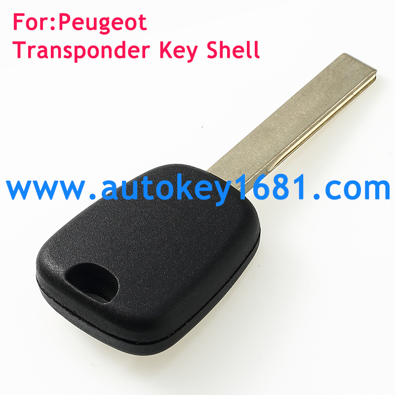 High quality Blank Transponder Car Key Shell For Peugeot Citroen HU83 Blade Without Logo