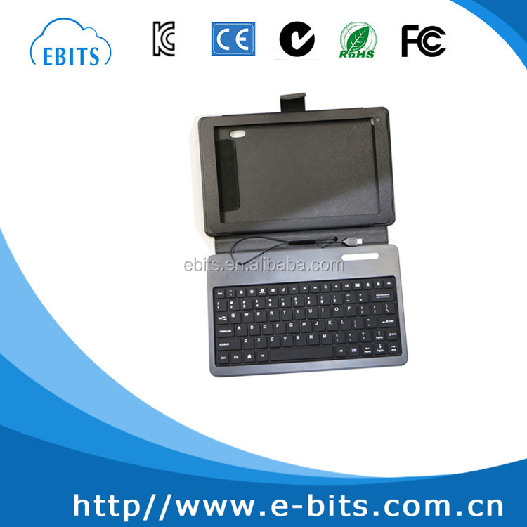 Micro USB wired keyboard leather case for 9 inch tablet PC