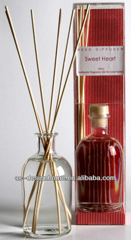 RED COLOR SWEET HEART FRAGRANCE 100ML AROMA HOME REED DIFFUSER GIFT SET W/GLASS BOTTLE AND 6 PCS REED