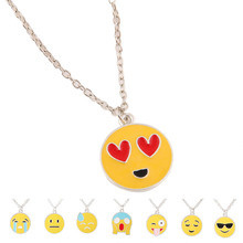 Whosale Fashion Jewerly Stainless Steel Emoji Pendant Necklace