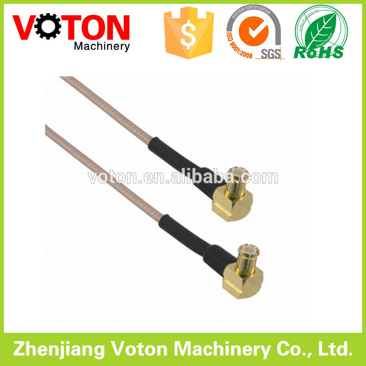 flex cable mcx right angle brass electrical connector radio