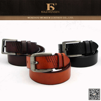 High quality custom mens genuine spanish leather belt