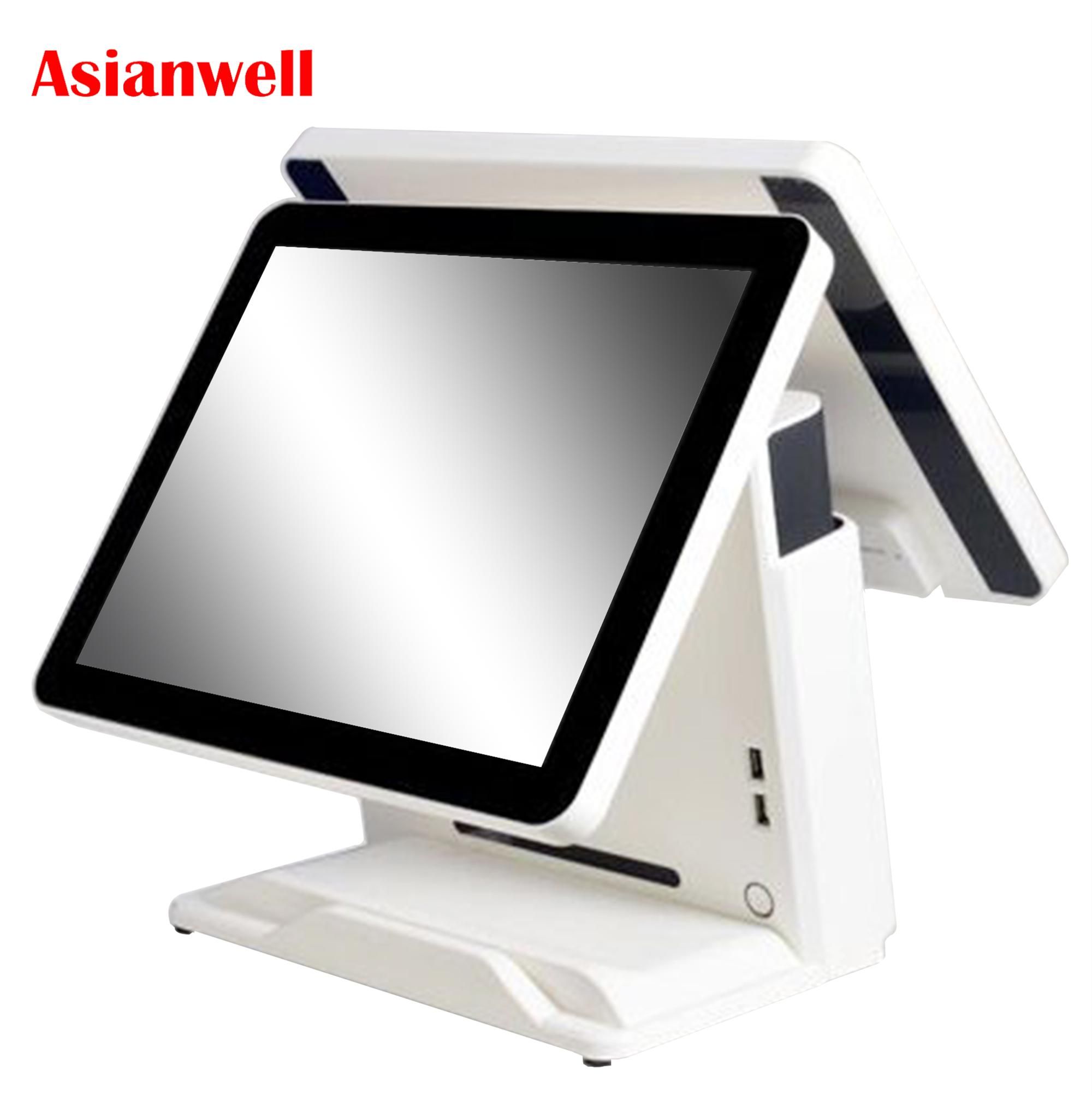 True flat 15inch Computer Terminal Hardware Point Of Sale Restaurant Pos All in One Touch Screen Pos System