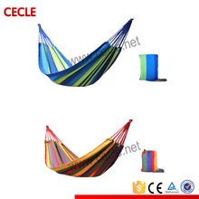 Colorful portable hammock with hammock straps made in china