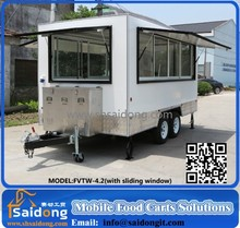 Mall Chinese supply food truck for sale in malaysia/hot dog food vending carts/self food ordering kiosk indoor