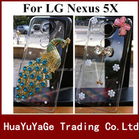 Free shipping phone cases 3D DIY cover Luxury Crystal Clear Diamond Bling Case for LG Nexus 5X