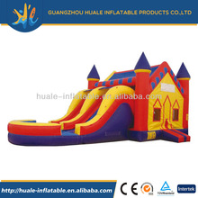 Inflatable bouncer with slide, infaltable jumping combo