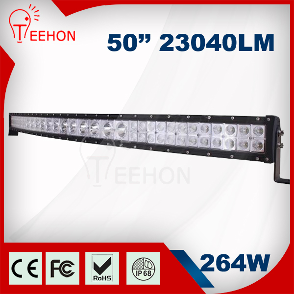 New 50 inch 264W 4x4 accessories car led light bar for car