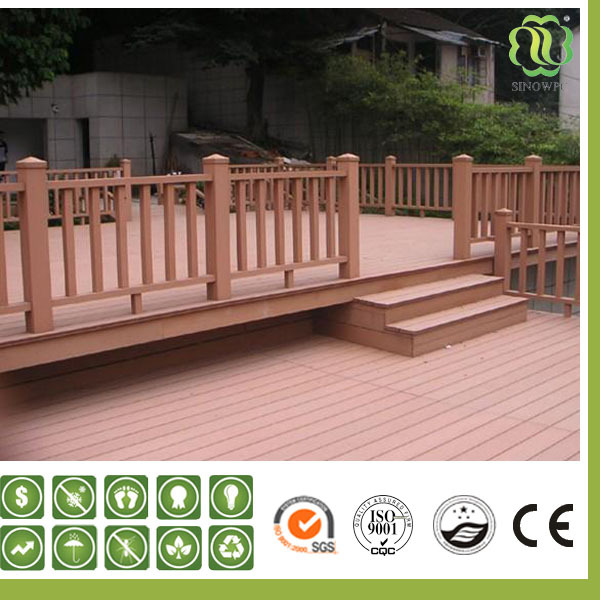 Waterproof Wood Plastic Composite Wpc Handrail For Outdoor Steps Garden Handrail Stair