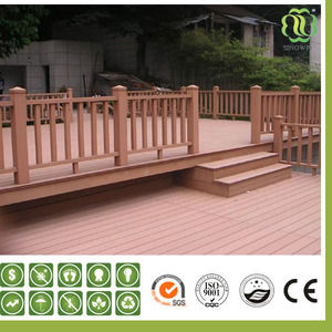 Waterproof (Wood Plastic Composite) Wpc Handrail For Outdoor Steps/Garden Handrail/Stair Handrail