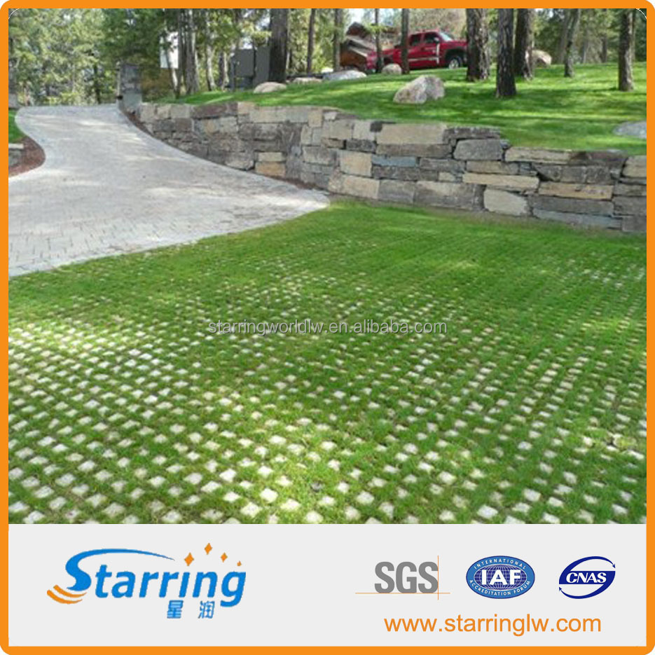 Car Parking Lot Interlocking Plastic Grass Grid Turf Paver