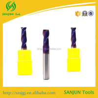 Hot sealing tungsten solid carbide side & face milling cutter 65 HRC