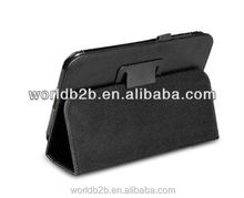 Leather Folio stand case for samsung galaxy tab 3 P3200