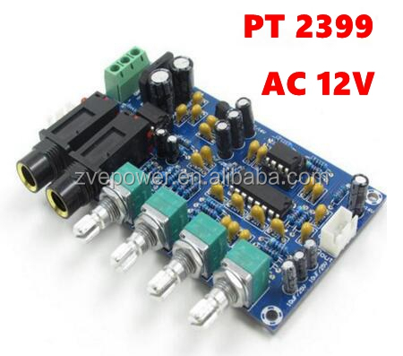 AC12V reverb plate amplifier board PT 2399 with Dual power supply
