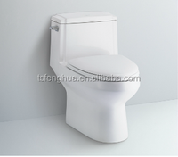 C986 Siphonic Closed-coupled enlonged One Piece Toilet Sanitary Ware Ceramics Bathroom Design