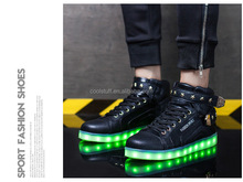 New style factory unisex led shoes light comfortable high top customized led shoes USB charge Light up sneakers sneaker LED Shoe