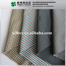 Shaoxing Wholesale check houndstooth herringbone rayon spandex tr designer wool polyester suiting fabric