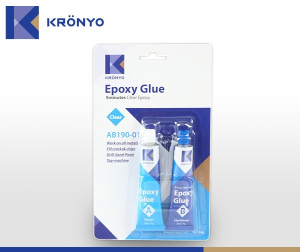 KRONYO steel to steel epoxy use of adhesive double sided tape