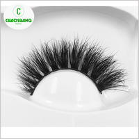 3D mink eyelashes High quality mink strip false eyelashes 3D mink lashes with custom eyelash package