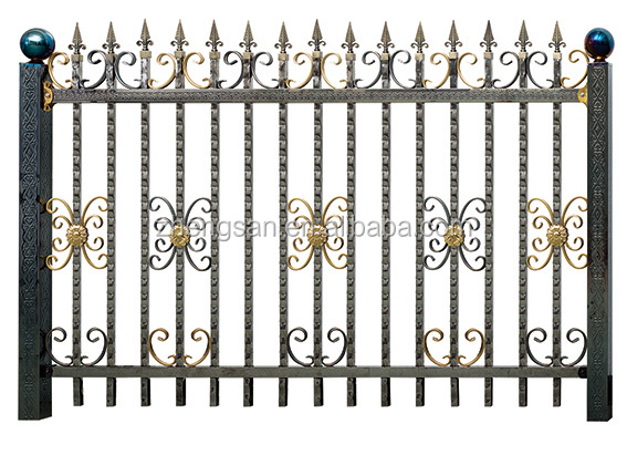 elegant and classic outdoor metal stair railing