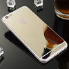 2016 mobile accessory acrylic back soft TPU cell phone case/ mirror phone case cover for Iphone 6 PLUS