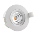 sunset dim gyro 360deg tilt fireproof model 9w dimmable led downlight design for nordic market 2000-2800k cct adjustable