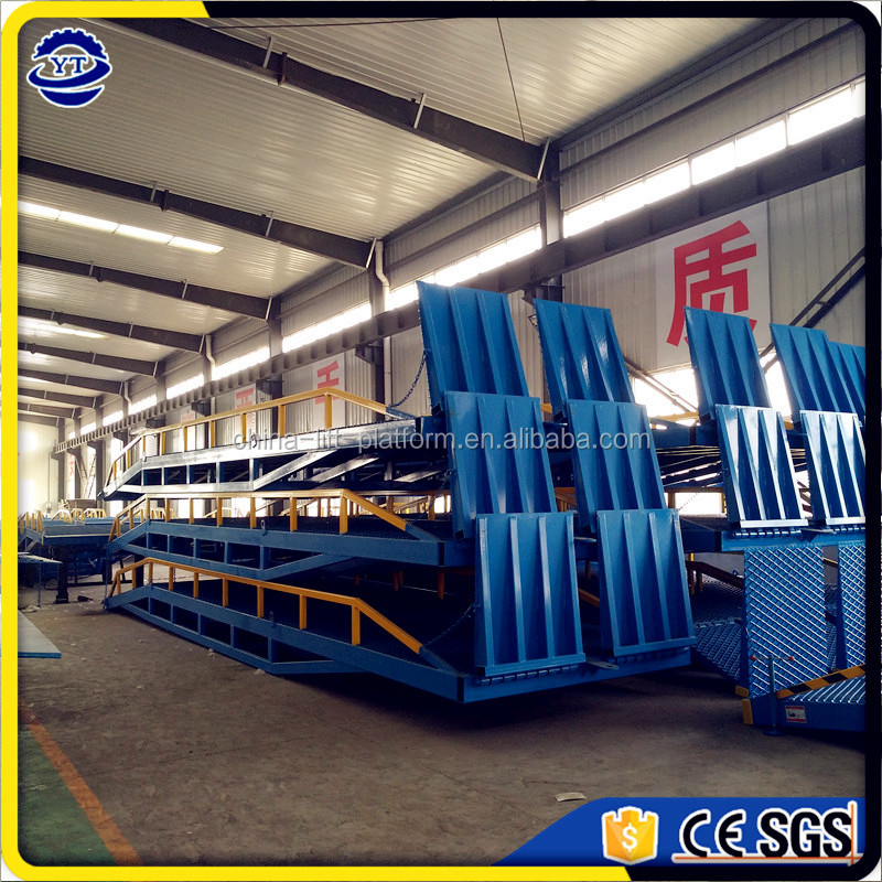 Hydraulic adjustable dock ramp for container loading, mobile dock ramp leveler