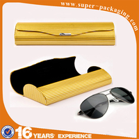 New fancy slim personalized triangle folding pu leather glasses case with handle