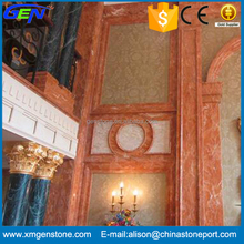 High Grade Adornment Wave texture Orange Red Marble Tiles