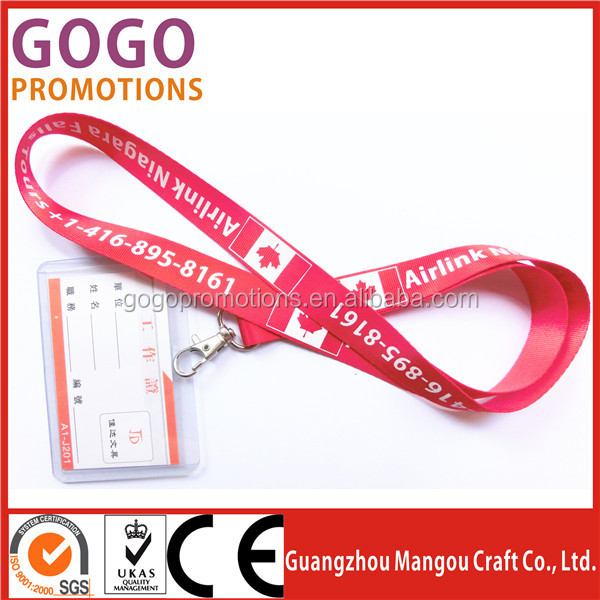 Custom nylon printed personalized lanyards/funny neck strap lanyards with printing logo