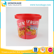 1500ML Wholesale IML Plastic Biscuit Packaging Box/Container