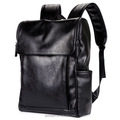 Top Black PU Leather Backpack For Men Soft Business Leisure Backpack School Bag