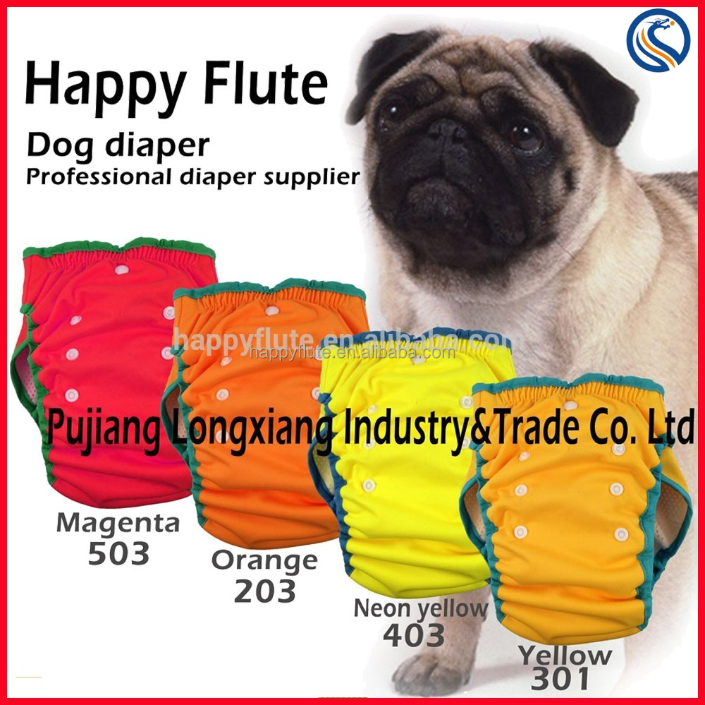 Dog diaper Happy Flute reusable washable convince dog physical pant diaper