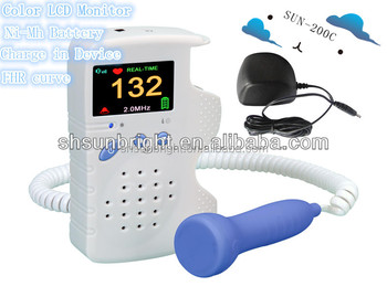 Sunbright LCD color display Fetal Doppler/New Model Fetal doppler with CE