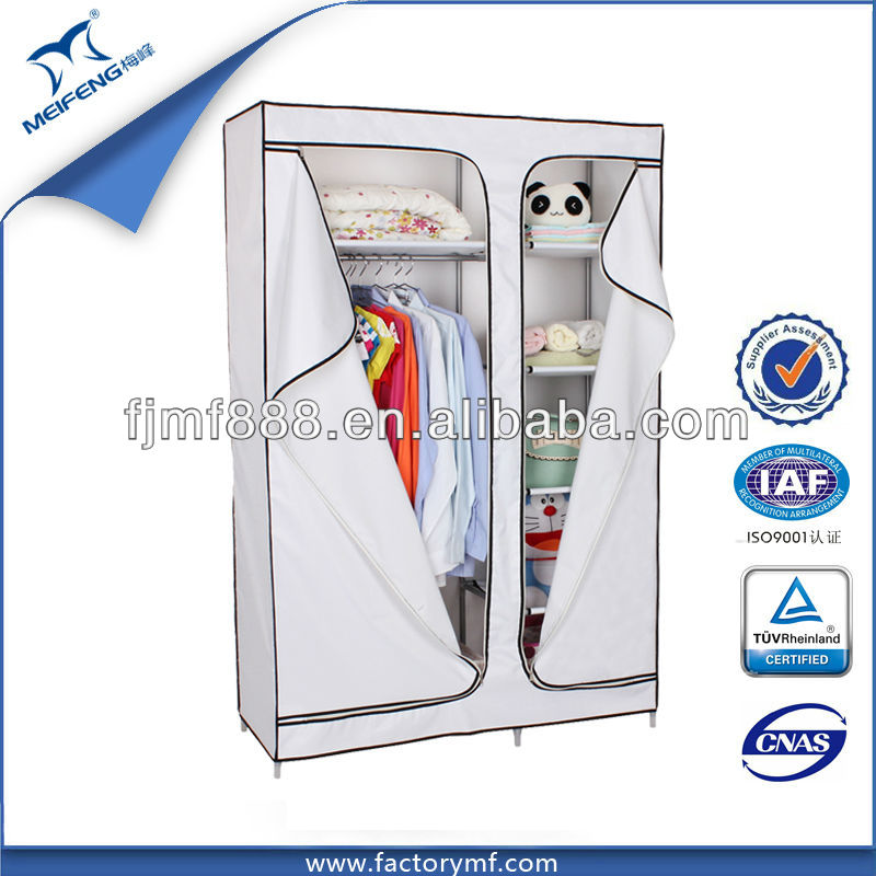 Spain Clothes Storage High Gloss White Wardrobe