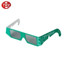 Custom logo disposable refraction depth cardboard paper foldable diffraction 3d eye glasses headband magnification glasses
