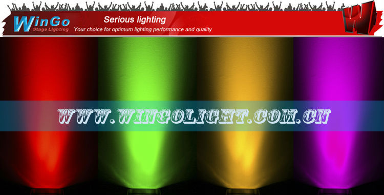 battery powered wireless dmx quad par / battery-operated wedge four color wash light/ battery power led flat par light