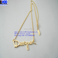 letter pendant gold simple chain necklace,gold letters of an alphabet necklace