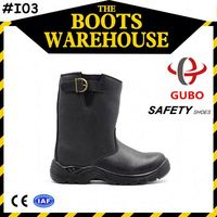 Cheap Unisex Gender and Genuine Leather Upper Material Industrial Safety Boot