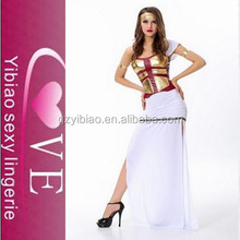Fashion designers Golden tops and white western long gown christmas party dresses