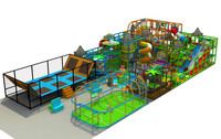 Big theme indoor playground ,trampoline park ,football field super play centre