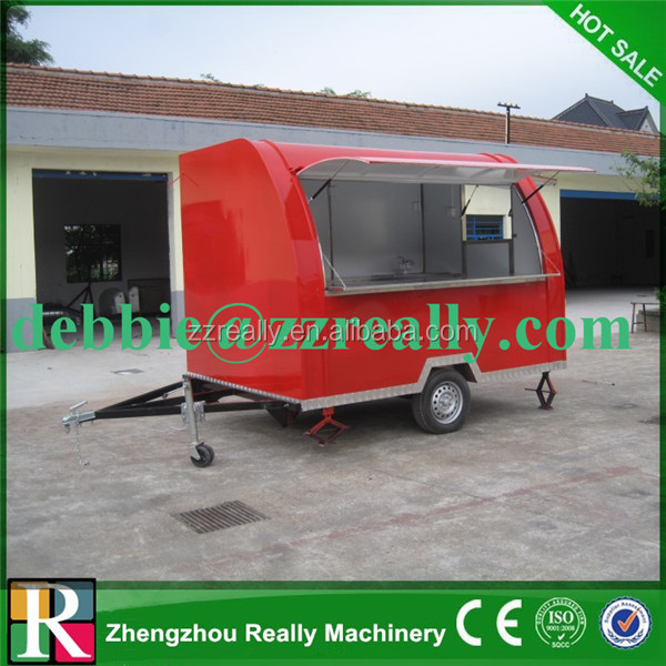New designed multifunctional street mobile food van - Remorque cuisine mobile ...