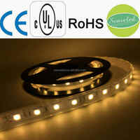 UL Listed Waterproof 24V 4.32W 18LED 360LM Per Foot 16.4FT Roll 80RA CRI Warm White 3000K 5050 SMD LED Tape LED Strip
