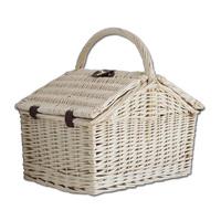 custom size handmade weave wicker picnic basket for sale