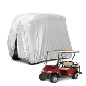4 Passenger Waterproof Dustproof Sunproof Golf Cart Cover, Fits EZ GO, Club Car and Yamaha Golf Carts