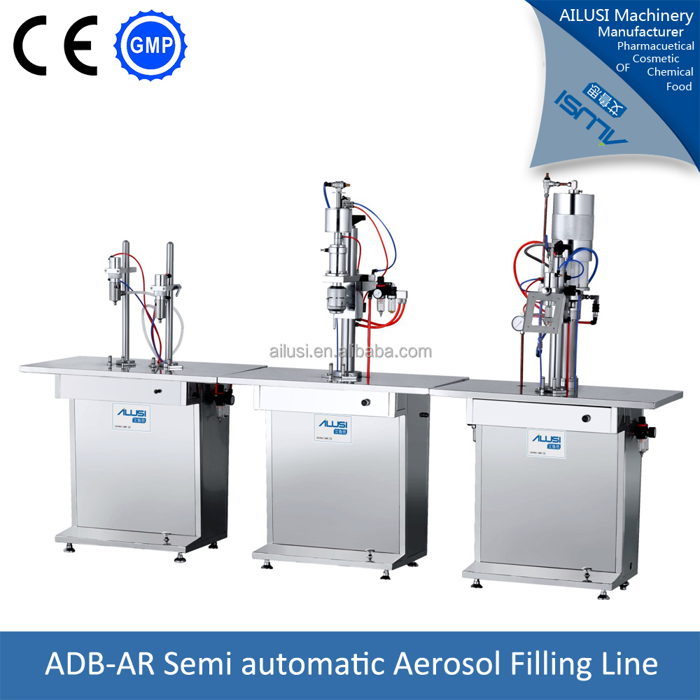 Semi automatic aerosol body perfume spray making machine