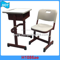 Children study table and chair adjustable student Adjustable School Desk And Chair