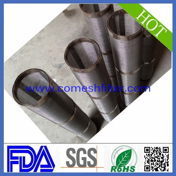 ss316 304 201 round hole stainless steel perforated filter tube for motor ycle/automobile muffler exhaust system