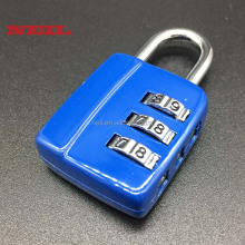 3 Digit Gym Locker Combination Padlock bule travel lock