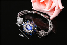 Dvacaman Brand 2017 Europe and the United States fashion high-grade alloy crystal oval cut glass stone women bracelet